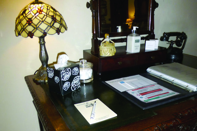 breadalbane writing desk at barcaldine castle