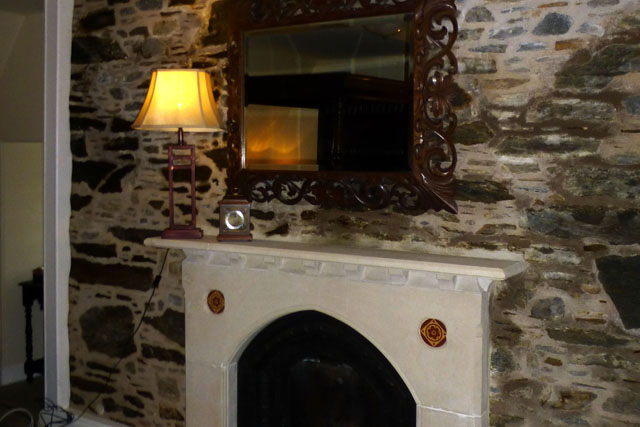 lochnell fireplace at barcaldine castle