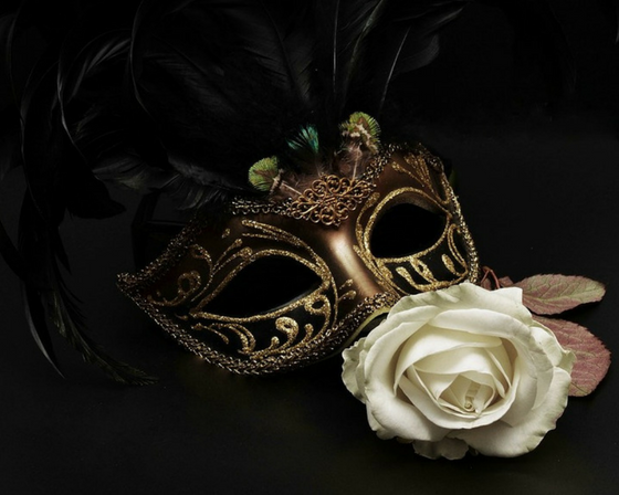 A masquerade ball mask.