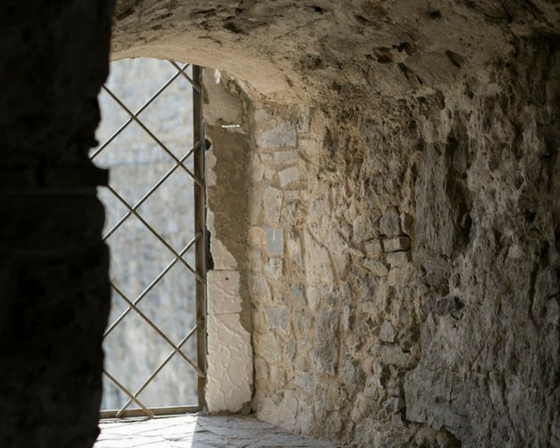 A castle window.