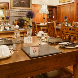 Dining at barcaldine castle
